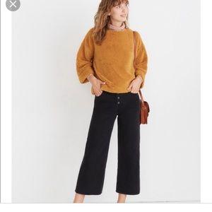 Madewell brown furry sweater NWT